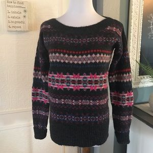 American Eagle Outfitters Fair Isle Style Sweater